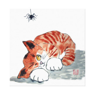 Not So Itsy Bitsy Spider and  Kitty Gallery Wrapped Canvas