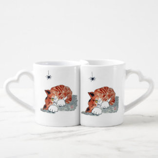 Not So Itsy Bitsy Spider and  Kitty Coffee Mug Set