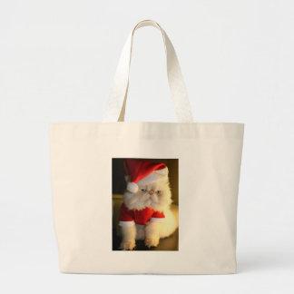 Not So Jolly Santa Cat Canvas Bags