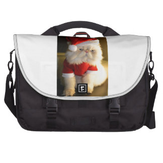 Not So Jolly Santa Cat Laptop Computer Bag