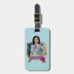 Small Luggage Tag with leather strap with Descendants Not-So-Plain Jane design