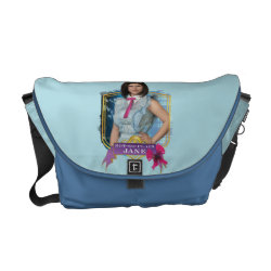 Rickshaw Medium Zero Messenger Bag with Descendants Not-So-Plain Jane design