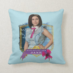 Cotton Throw Pillow with Descendants Not-So-Plain Jane design