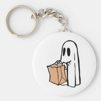 Not So Spooky Halloween Ghost Trick or Treater Keychain