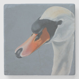"""""""Not So Ugly Now"""" swan coaster. Stone Coaster"""