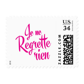Not sorry about anything - Je ne Regrette Rien Postage
