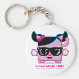 Not Squared to be a GEEK Basic Round Button Keychain