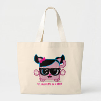 Not Squared to be a GEEK Large Tote Bag