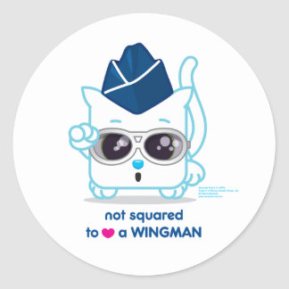 Not Squared to LOVE a Wingman Classic Round Sticker