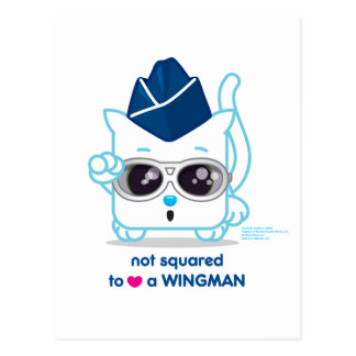 Not Squared to LOVE a Wingman Postcard