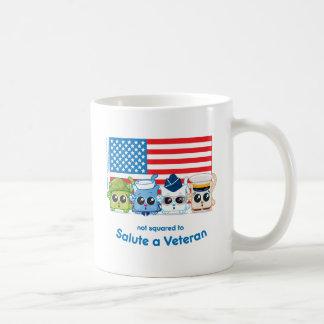 Not Squared to Salute a Veteran Classic White Coffee Mug