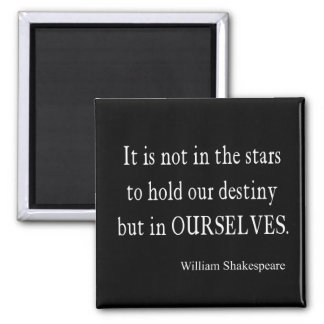 Not Stars Destiny But Ourselves Shakespeare Quote Magnet