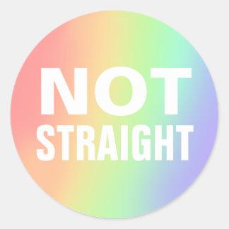 not straight classic round sticker