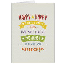 Not Straight Design Happy Mother's Day Card