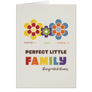 Not Straight Design - Perfect little Family card
