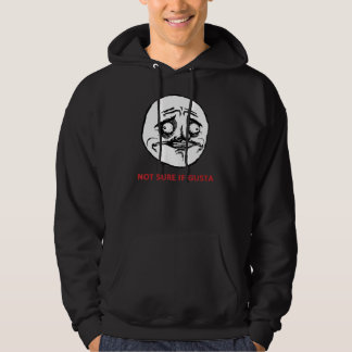 Not Sure If Gusta - 2-sided Black Hoody