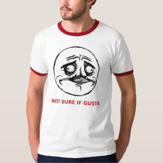 Not Sure If Gusta - 2-sided Ringer T-Shirt