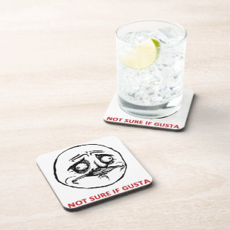 Not Sure If Gusta - set of 6 Cork Coasters