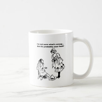 Not sure what's wrong.But it's probably your fault Coffee Mug