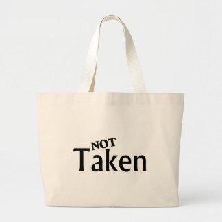 Not Taken Black Large Tote Bag