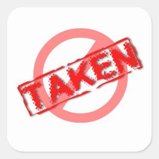 Not Taken Sticker
