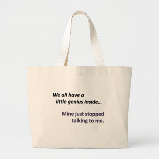 Not Talking Large Tote Bag