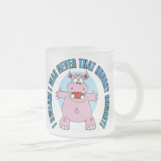 Not THAT Hungry Hippo Frosted Glass Coffee Mug