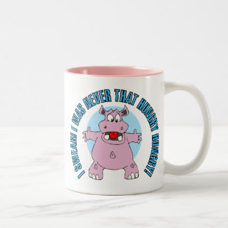 Not THAT Hungry Hippo Two-Tone Coffee Mug