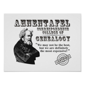 Not The Best Genealogy College Posters