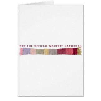 Not The Official Waldorf Handbook Scarf Logo Cards