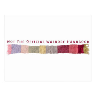 Not The Official Waldorf Handbook Scarf Logo Postcards