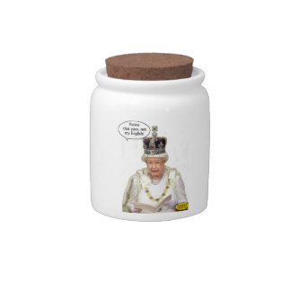 Not the Queen's English Candy Jar