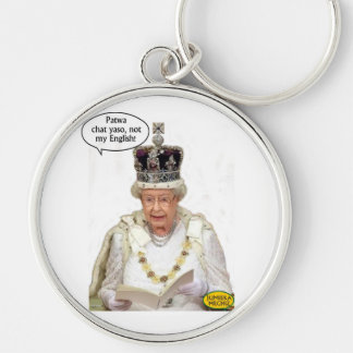 Not the Queen's English Keychain