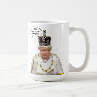Not the Queen's English Classic White Coffee Mug