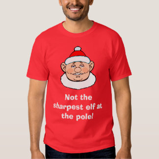 Not the sharpest elf at the pole t-shirt