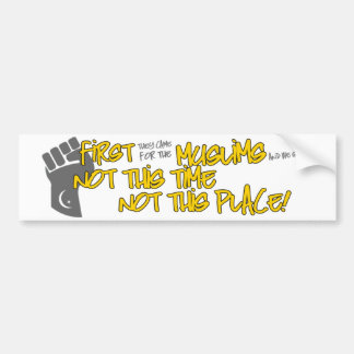 Not This Place Bumper Sticker