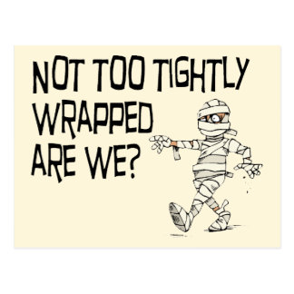 Not tightly wrapped postcard