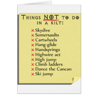 Not To Do List Card