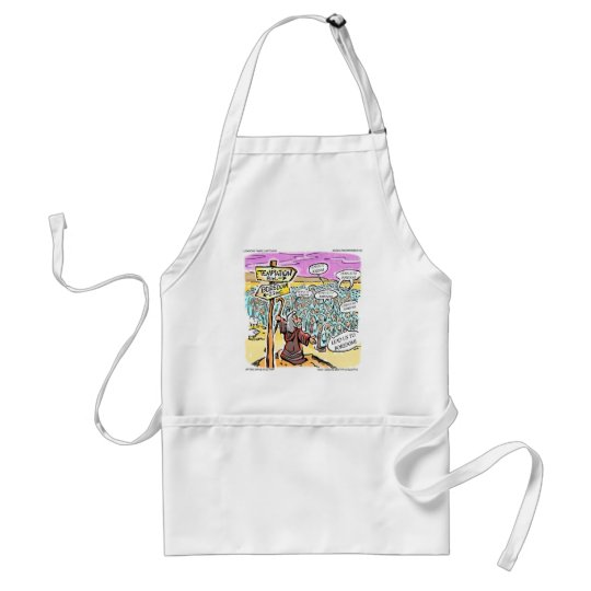 Not To Temptation? Funny Gifts Cards & Tees Adult Apron
