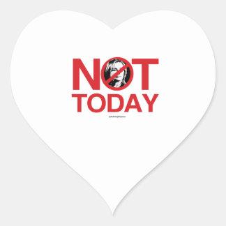 Not Today Hillary Heart Sticker