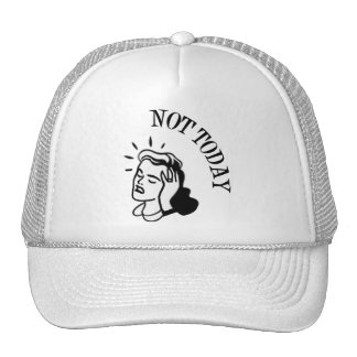 Not Today - Retro Lady With Headache Trucker Hat