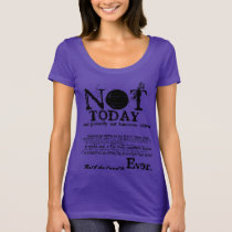 NOT TODAY Slogan Statement Sweater