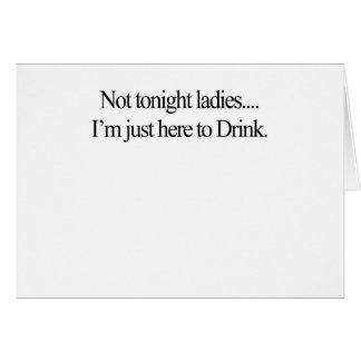 not tonight card