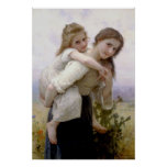 Not Too Much to Carry 1895 Bouguereau Poster
