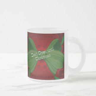 Not Until Christmas Frosted Egg Nog Mug