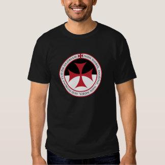 Not Unto Us, O Lord - Templar Cross and Motto T-Shirt