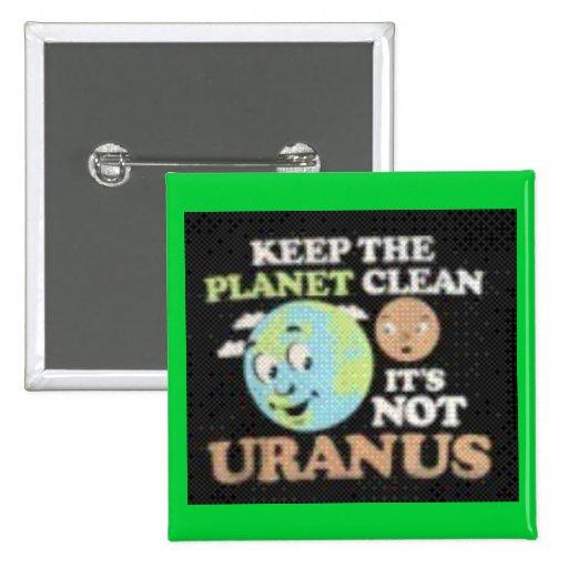 Not Uranus 2 Inch Square Button