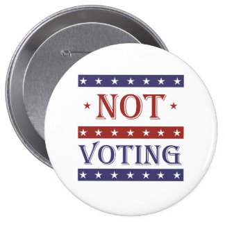 NOT VOTING IN 2016 - -  BUTTON