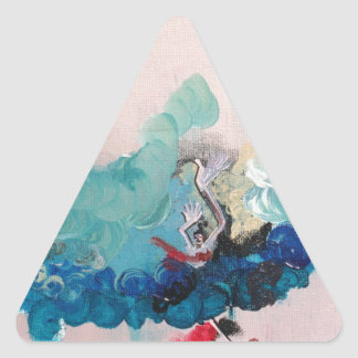 Not Waving but Drowning Triangle Sticker