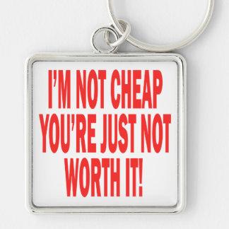 Not Worth It Keychain